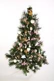 Verzierter Weihnachtsbaum Stockfoto