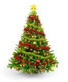 Verzierter Weihnachtsbaum lizenzfreie abbildung