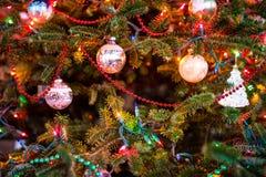 Verzierter Weihnachtsbaum Lizenzfreie Stockfotografie