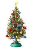 Verzierter Weihnachtsbaum mit getrennter Girlande Stockfoto
