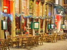 Verziertes Café Weihnachten stockfotos
