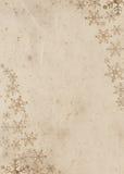 Verziertes grunge Papier für Weihnachtskarte Stockbilder