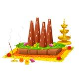 Verziertes onathappan für Onam-Feier Lizenzfreie Stockbilder