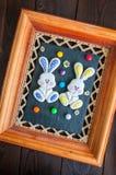Verziertes Ostern Bunny Cookies lizenzfreies stockfoto