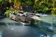 Verziertes Pool in den bootanical Gärten durch die Bucht Stockbild