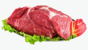 Verziertes rohes Fleisch - Schinken mit Gemüse stockfotos