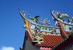 Verziertes Tempel-Dach in Süd-Taiwan Lizenzfreie Stockfotografie