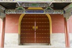 Verziertes Tor der eligious Gebäude Peking China Tempels Himmelstempels Tiantan Daoist Lizenzfreie Stockbilder