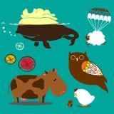 Verziertes Viehzeichen Stockbilder