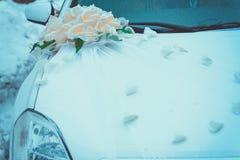 Verziertes Wedding Auto Stockfoto