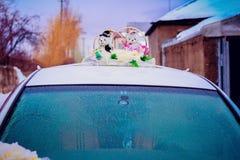 Verziertes Wedding Auto Stockfotografie