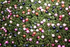 Verziertes Weihnachtsbaummuster Stockfotografie