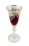 Verziertes Weinglas Stockfotografie