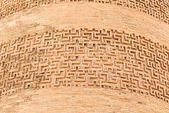 Verzierung auf dem Turm Burana Das Monument der Architektur von XI Lizenzfreie Stockfotografie