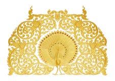 Verzierung der Gold überzogenen Weinlese mit Blumen lizenzfreie stockbilder