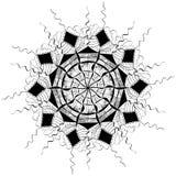 Verzierung der Linien, der Dreiecke und der Raute Lizenzfreie Stockbilder