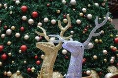 Verzierung des Raumes mit Weihnachtsbaum für Feiertag ` s Weihnachten- und neues Jahr ` s Stockbilder