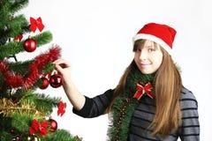 Verzierung des Weihnachtsbaums Stockfotos