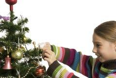 Verzierung des Weihnachtsbaums Stockbilder