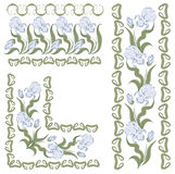 Verzierung mit Iris. horizontal, vertikal, Winkel Stockfotografie
