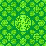 Verzierung, Orientale, Arabisch, islamischer, grüner nahtloser Musterbeschaffenheitshintergrund Vektor Ramadan Mubarak stock abbildung