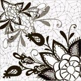 Verzierung Schwarzweiss mit dekorativen Elementen Stockfotos