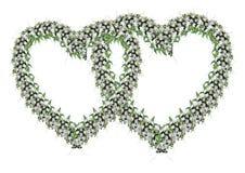 Verzierung von den Hochzeitsblumen Stockbild