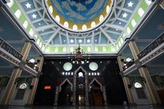 Verzierungen an großer Moschee Trenggalek Stockfotografie