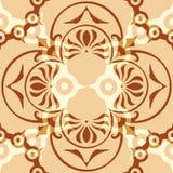 Verzierungs-abstraktes Muster nahtlos mit Coffe-Farbe Stockfotografie