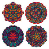 Verzierungs-Designsatz der Mandala runder Stockbilder