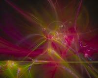 Verzierungsentwurfs-Flammenverzierung des abstrakten digitalen Fractal magische glänzende, Energie kreativ vektor abbildung