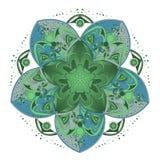 Verzierungsfarbkarte mit Mandala vektor abbildung