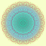 Verzierungsfarbkarte mit Mandala Dekorative Elemente der Weinlese Hand gezeichneter Hintergrund zeichen Lizenzfreies Stockfoto