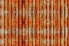 Verzinken Sie des nahtlosen das rostige gewölbte alte Metall Muster-Hintergrundes der Wandbeschaffenheit Stockfotos