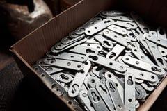 Verzinkter Metallhalter-Schrank, Regale Lizenzfreie Stockfotografie