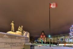 Verzoening: Het Behoud van de vredemonument - Ottawa - Canada stock fotografie