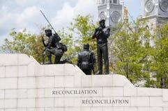 Verzoening: Het Behoud van de vredemonument - Ottawa - Canada royalty-vrije stock foto