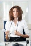 Verzweifelte Geschäftsfrau Stockbilder