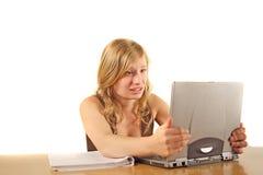 Verzweifeltes Mädchen lizenzfreie stockbilder