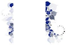 Verzweigen Sie sich mit Blättern und Blumen vektor abbildung