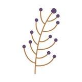 Verzweigungsbaum mit Stamm und Niederlassungen lizenzfreie abbildung