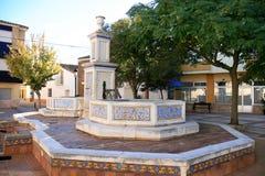 ves испанского языка azulejos casas de фонтана стоковые изображения rf