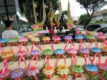 Vesak天庆祝在槟榔岛 库存图片