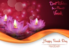 Vesak Day background banner Royalty Free Stock Photos