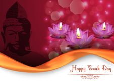 Vesak Day background banner Stock Photo