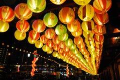 Vesak leuchten 2008 Stockbild