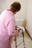 Vescica iperattiva di incontinenza anziana della donna Fotografia Stock Libera da Diritti