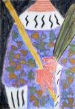 Vescovo con il pastorale e un ramo della palma Fotografia Stock