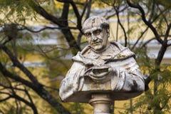 Vescovo San Pedro Pascual Statue Bust Baroque Style Antigua Guatemala immagini stock libere da diritti