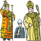 Vescovo Set Fotografie Stock